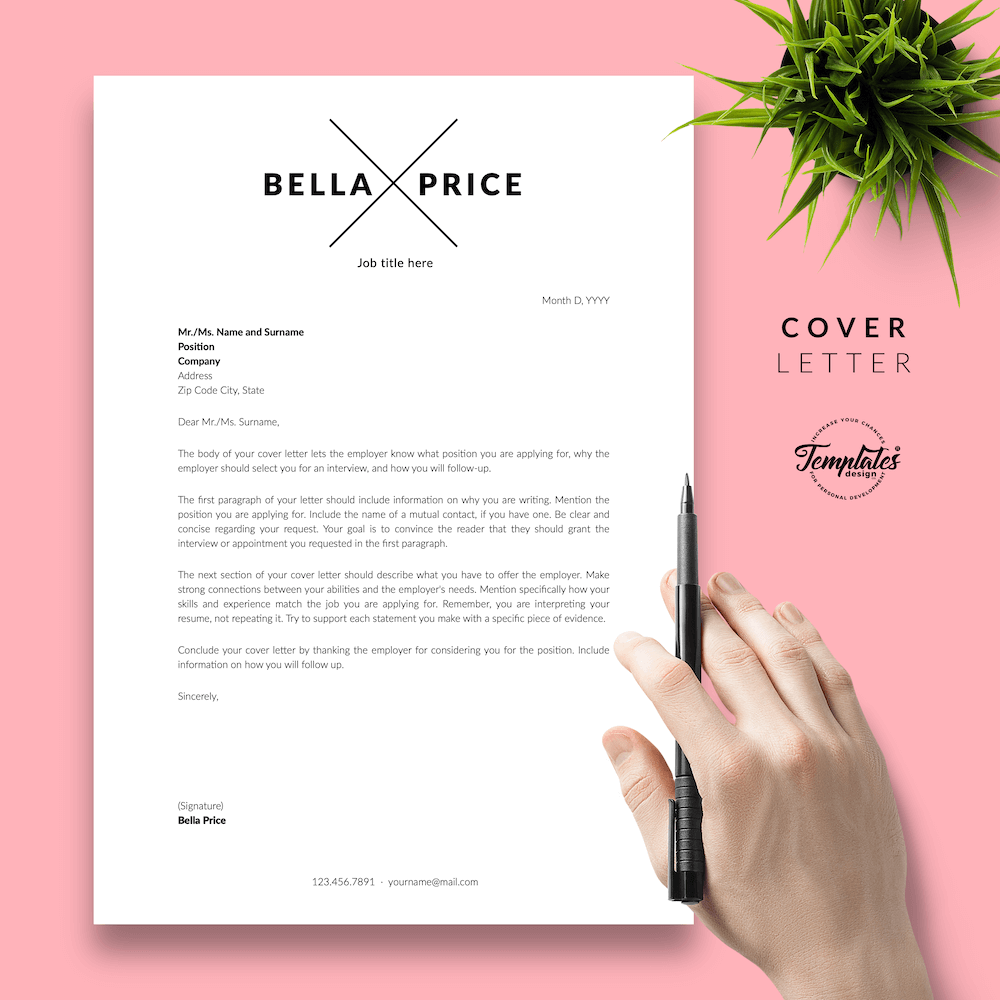 Simple Resume Format - Bella Price 05 - Cover Letter - New version