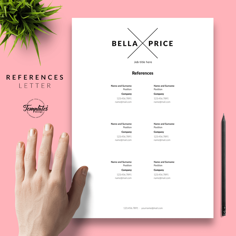 Simple Resume Format - Bella Price 06 - References - New version