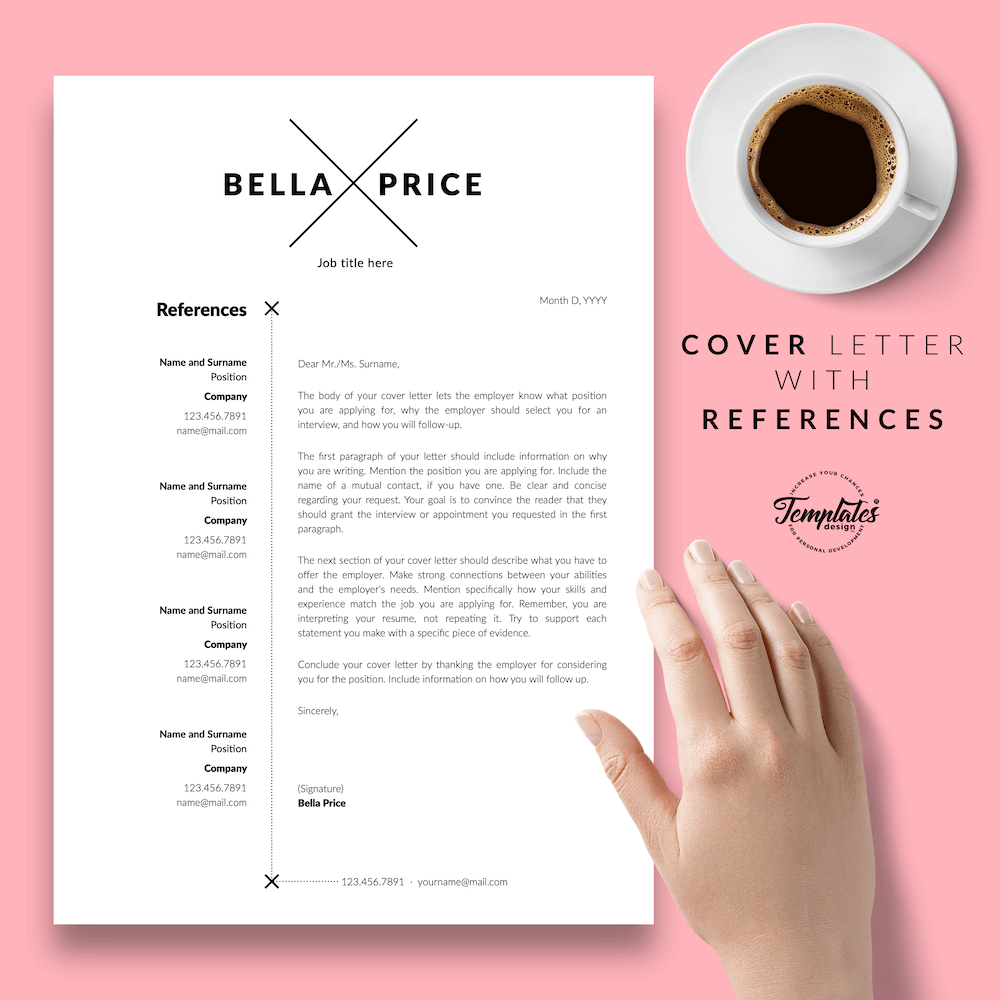 Simple Resume Format - Bella Price 07 - Cover Letter with References - New version