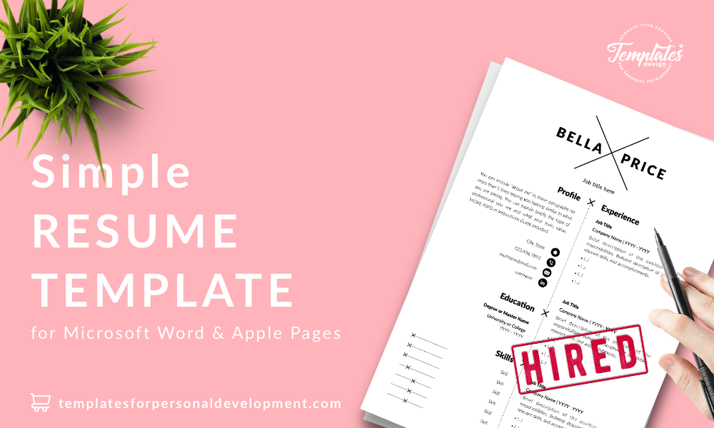 Resume CV Template : Bella Price 22 - Post - New version