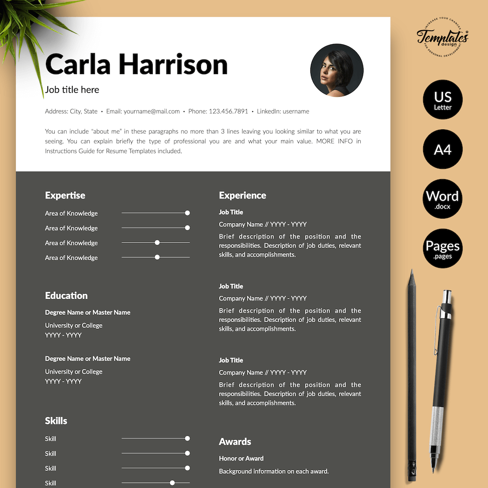 Resume Template for Accountant - Carla Harrison 01 - Presentation - New version