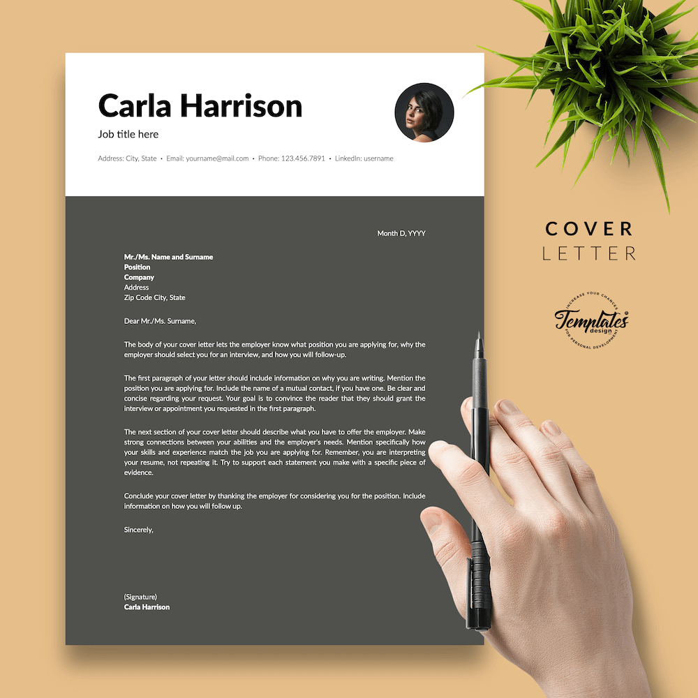 Resume Template for Accountant - Carla Harrison 05 - Cover Letter - New version