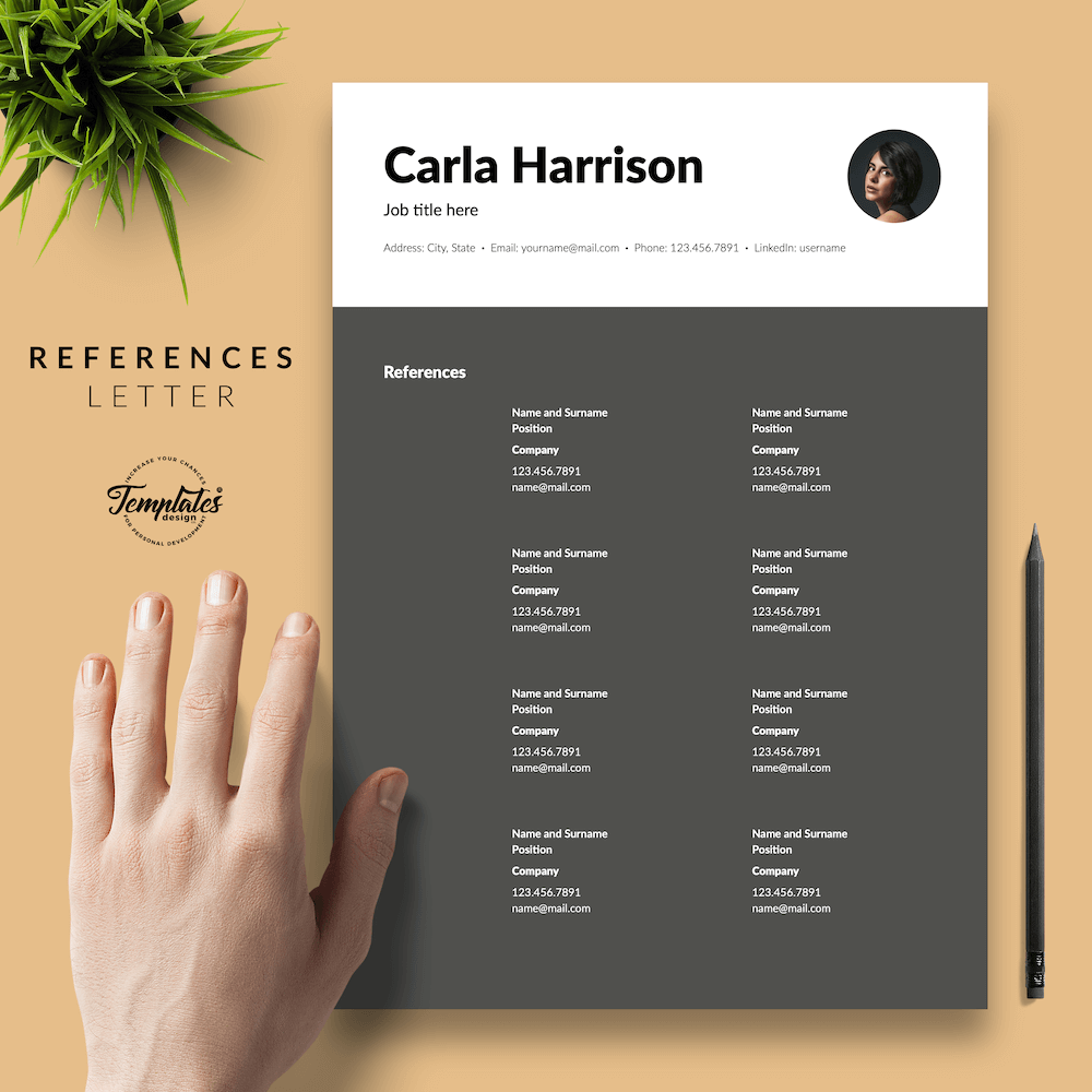 Resume Template for Accountant - Carla Harrison 06 - References - New version