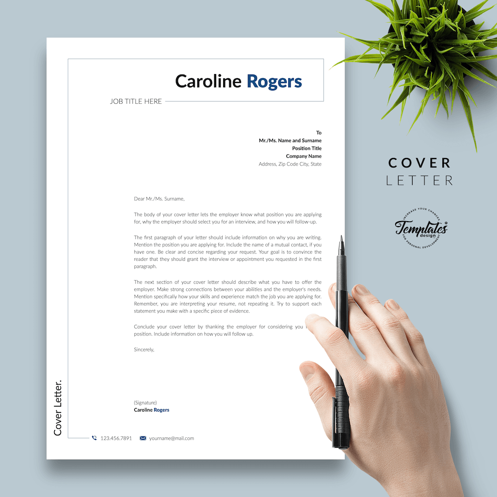Resume Format for Engineer - Caroline Rogers 05 - Cover Letter - New version