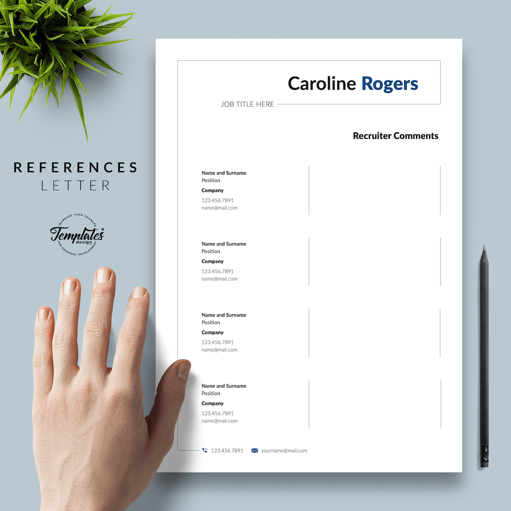 Resume Format for Engineer - Caroline Rogers 06 - References - New version