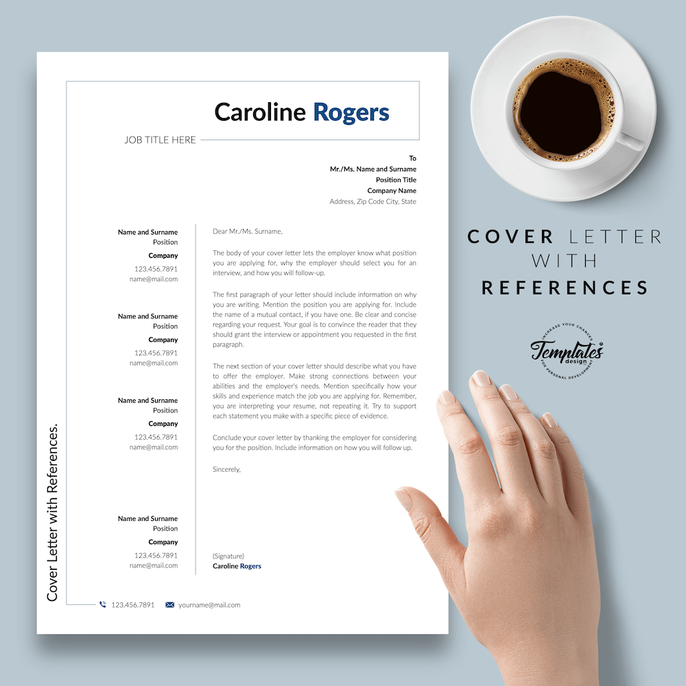 Resume Format for Engineer - Caroline Rogers 07 - Cover Letter with References - New version