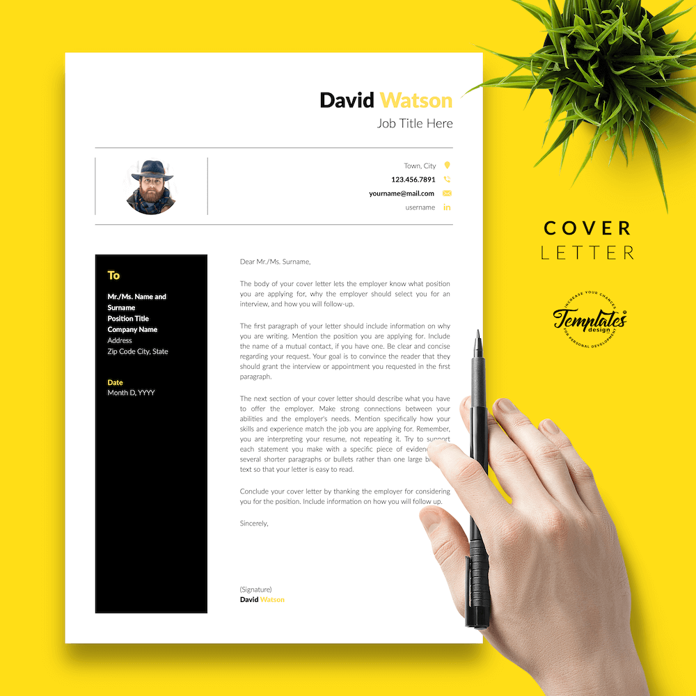 CV Example for Construction - David Watson 05 - Cover Letter - New version
