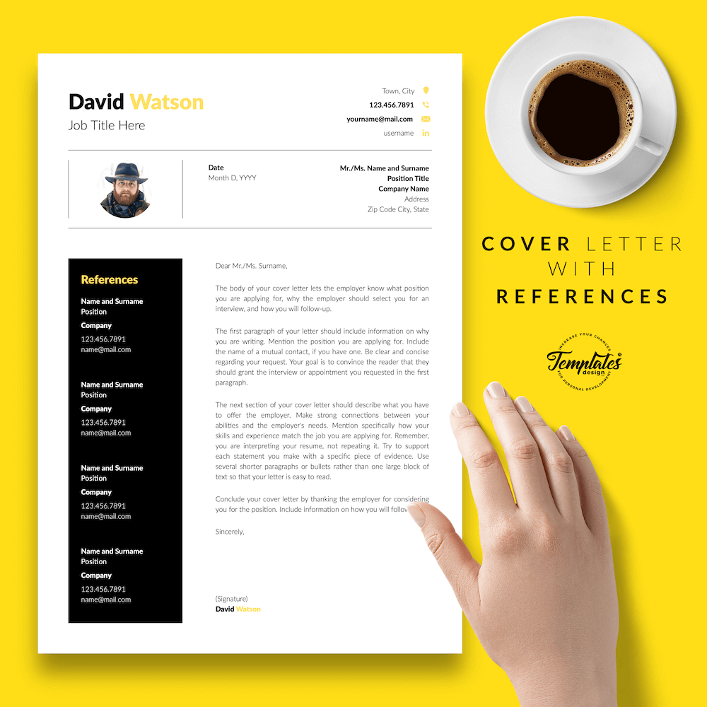 CV Example for Construction - David Watson 07 - Cover Letter with References - New version