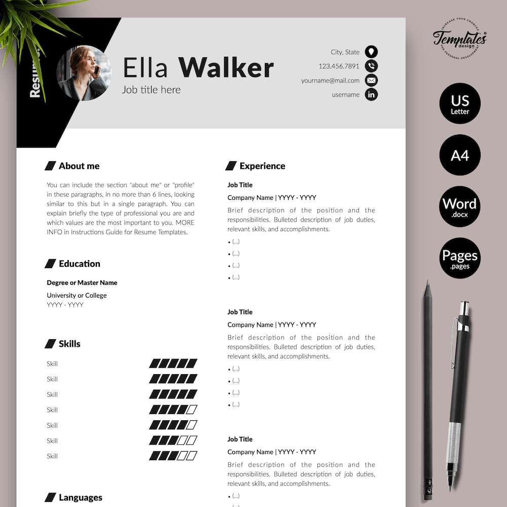 Creative Resume for Sales - Ella Walker 01 - Presentation - New version