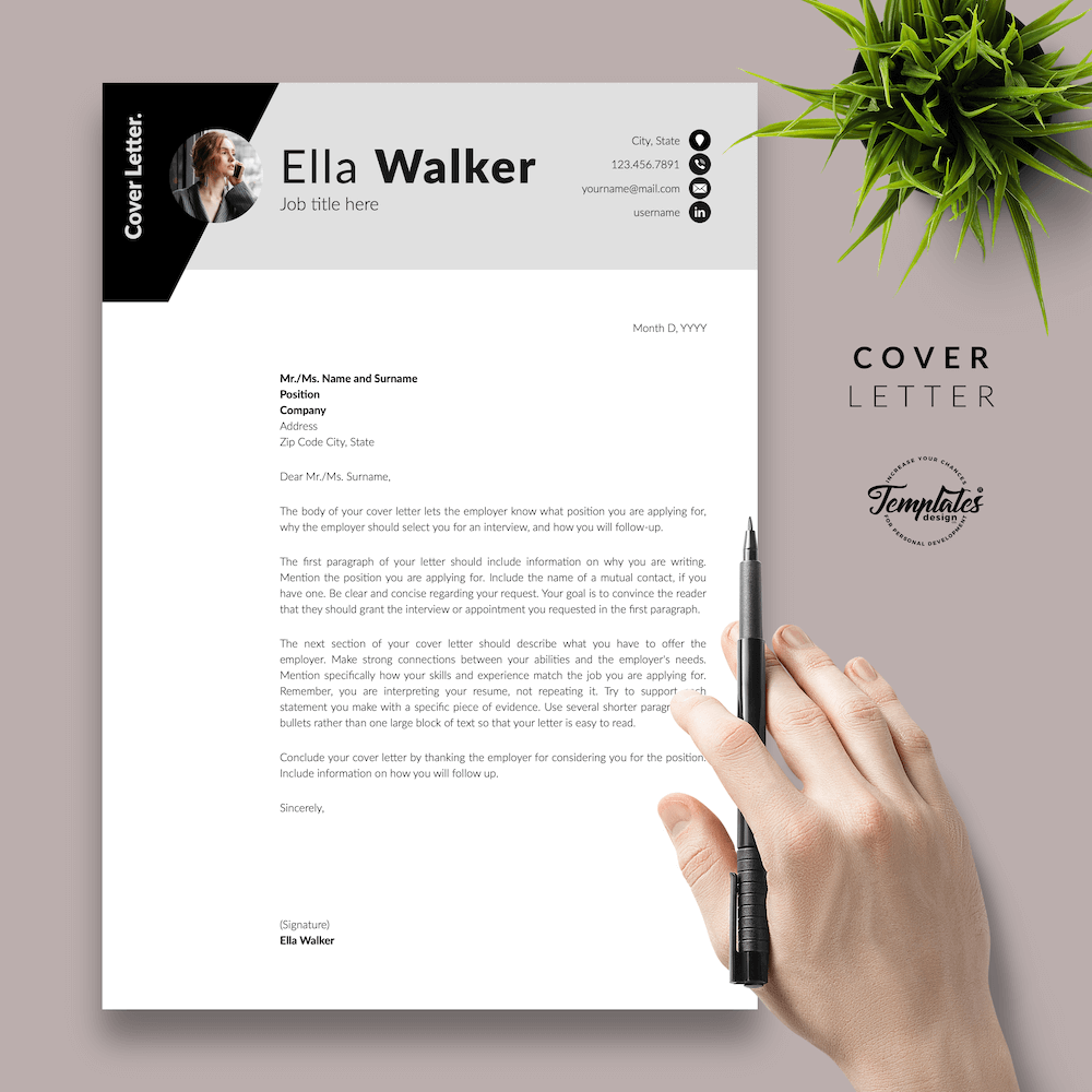 Creative Resume for Sales - Ella Walker 05 - Cover Letter - New version
