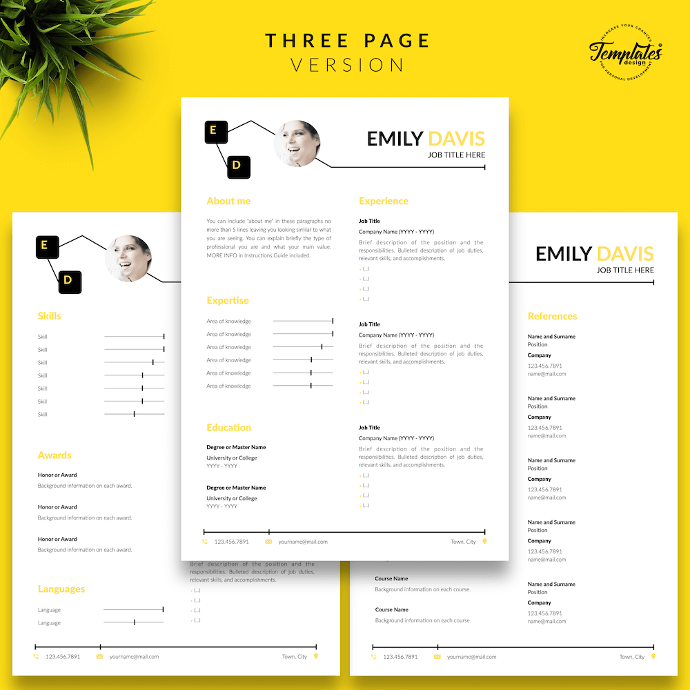Resume Example for Writers - Emily Davis 04 - Three Page Version - New version