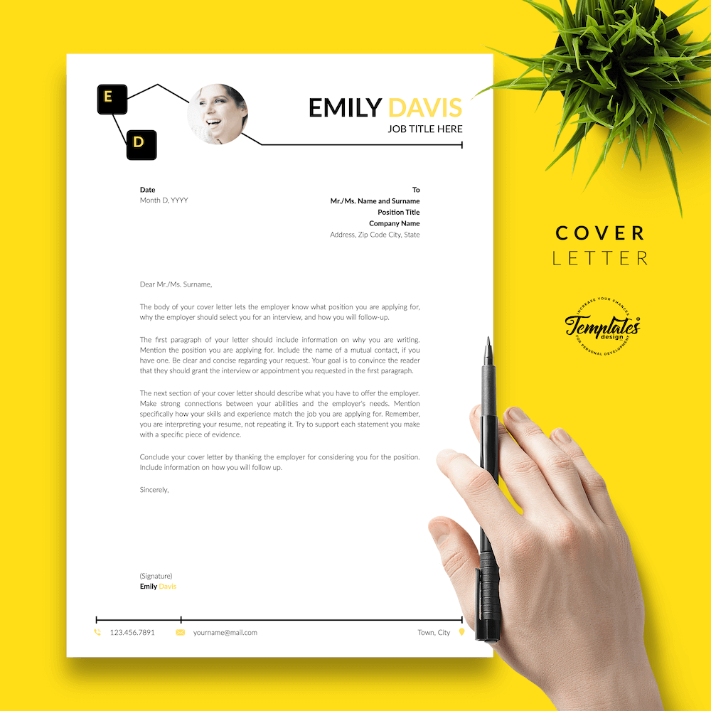 Resume Example for Writers - Emily Davis 05 - Cover Letter - New version