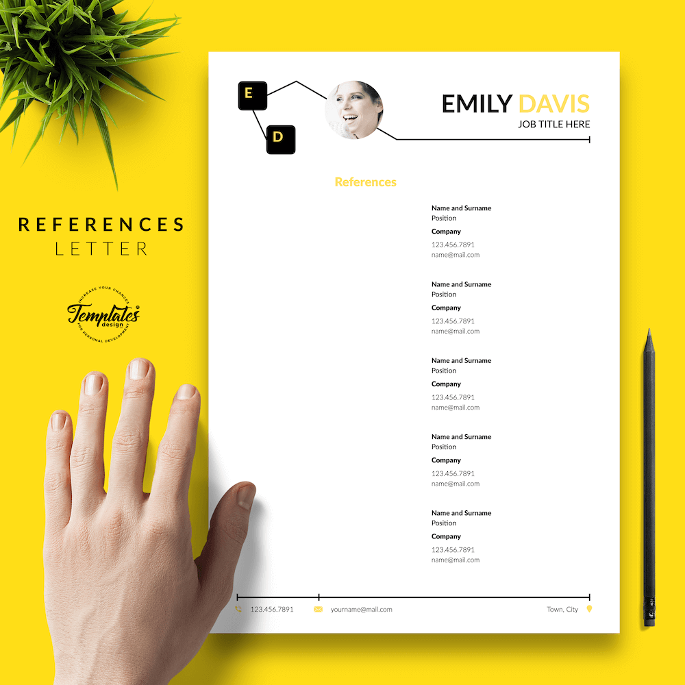 Resume Example for Writers - Emily Davis 06 - References - New version
