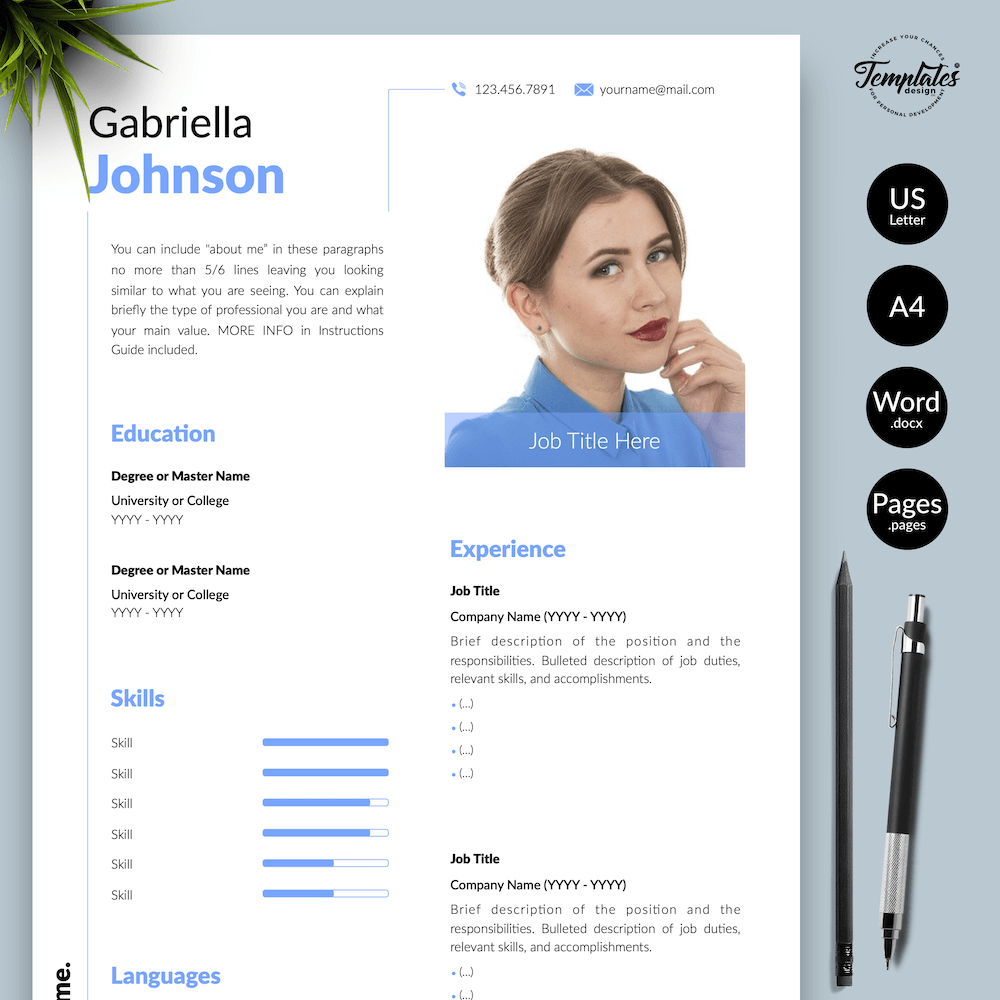 Creative Resume CV - Gabriella Johnson 01 - Presentation - New version