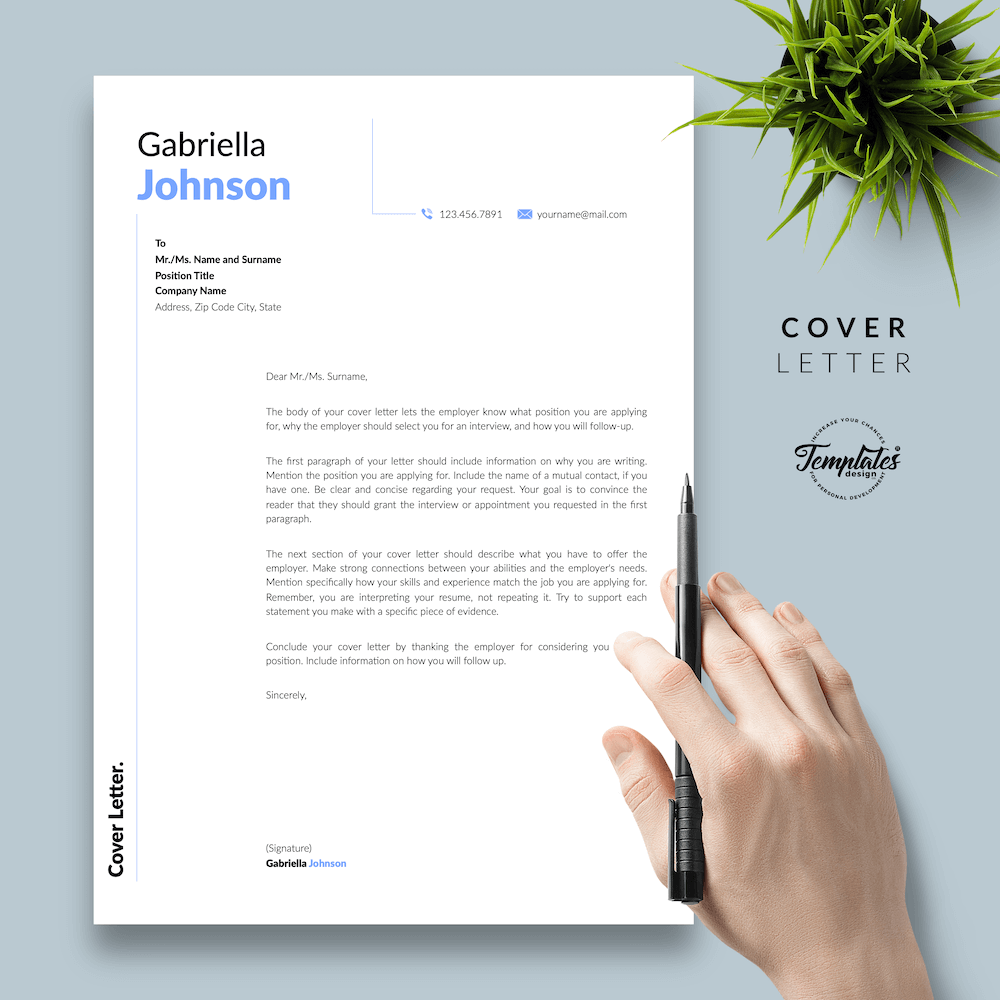 Creative Resume CV - Gabriella Johnson 05 - Cover Letter - New version