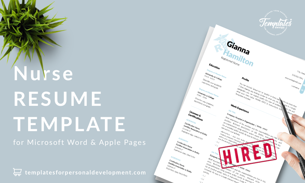 Resume CV Template : Gianna Hamilton 22 - Post - New version