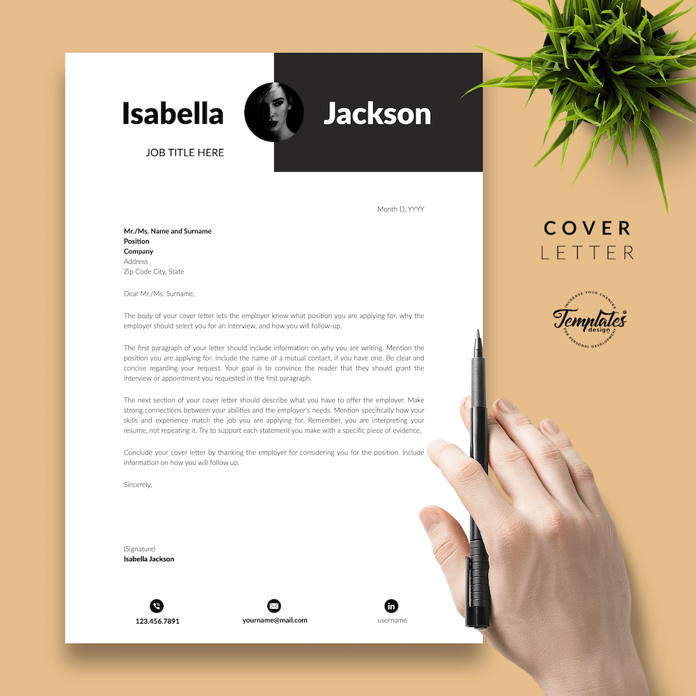 Modern Resume for Managers - Isabella Jackson 05 - Cover Letter - New version