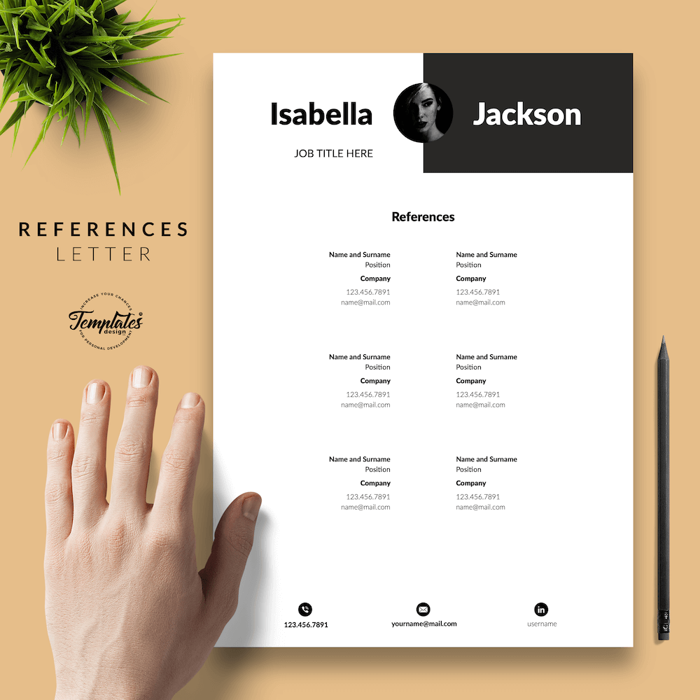 Modern Resume for Managers - Isabella Jackson 06 - References - New version