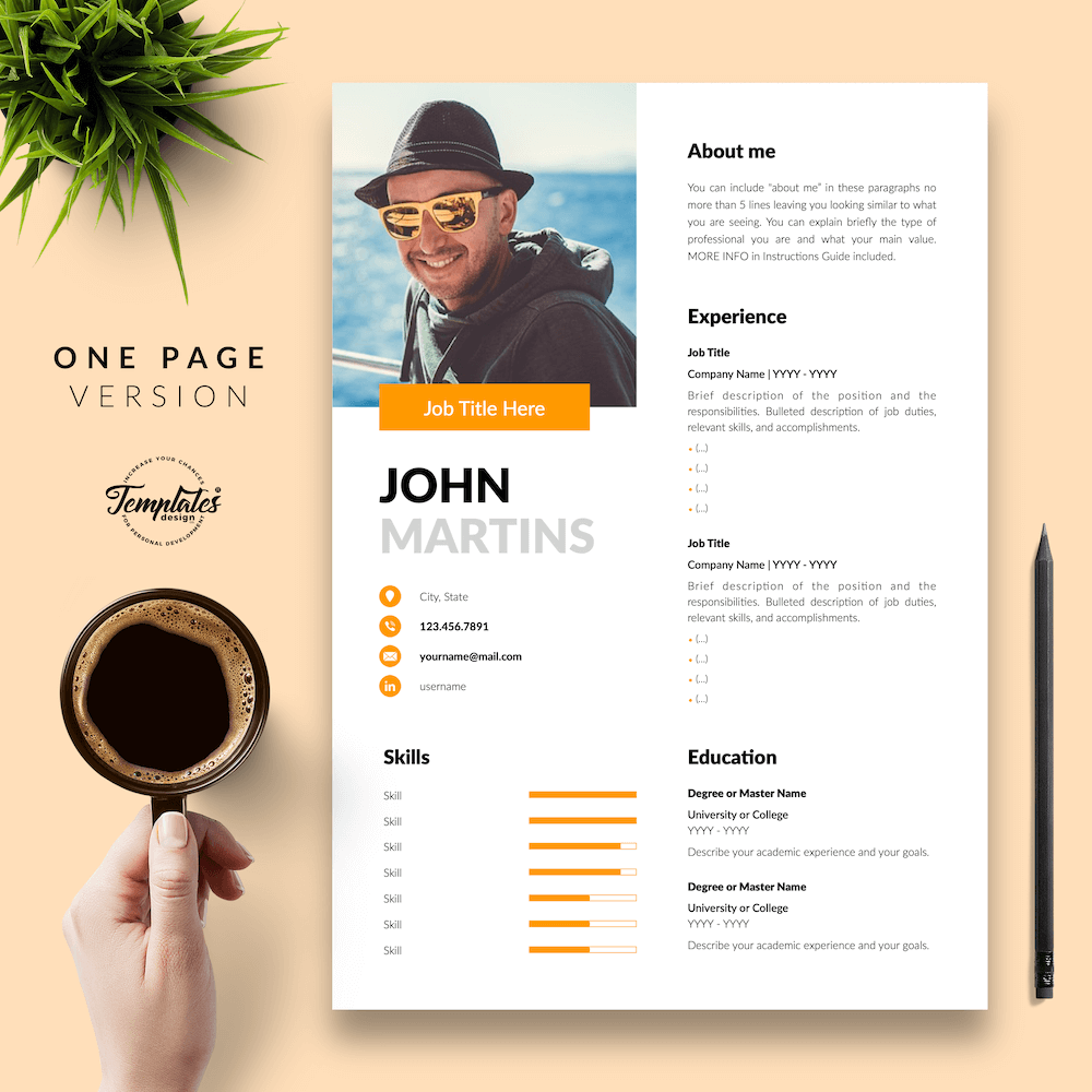 Resume for Marketing Positions - John Martins 02 - One Page Version - New version