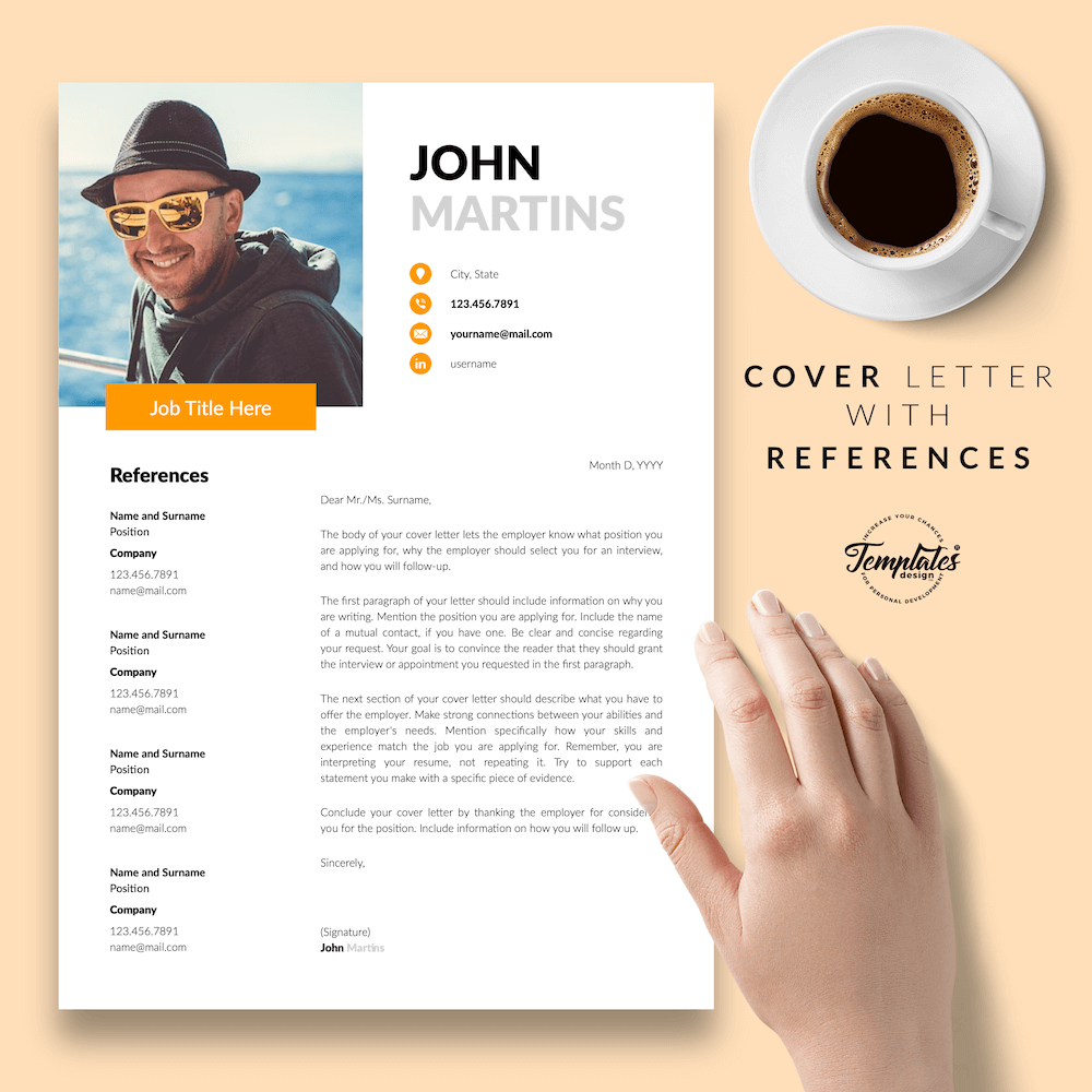 Resume for Marketing Positions - John Martins 07 - Cover Letter with References - New version