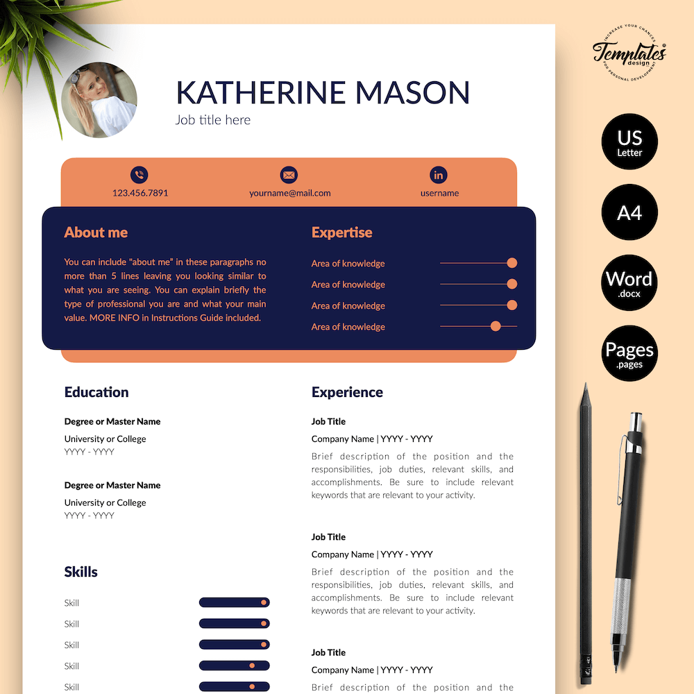 Original Resume Format - Katherine Mason 01 - Presentation - New version