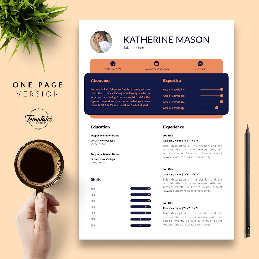 Original Resume Format - Katherine Mason 02 - One Page Version - New version