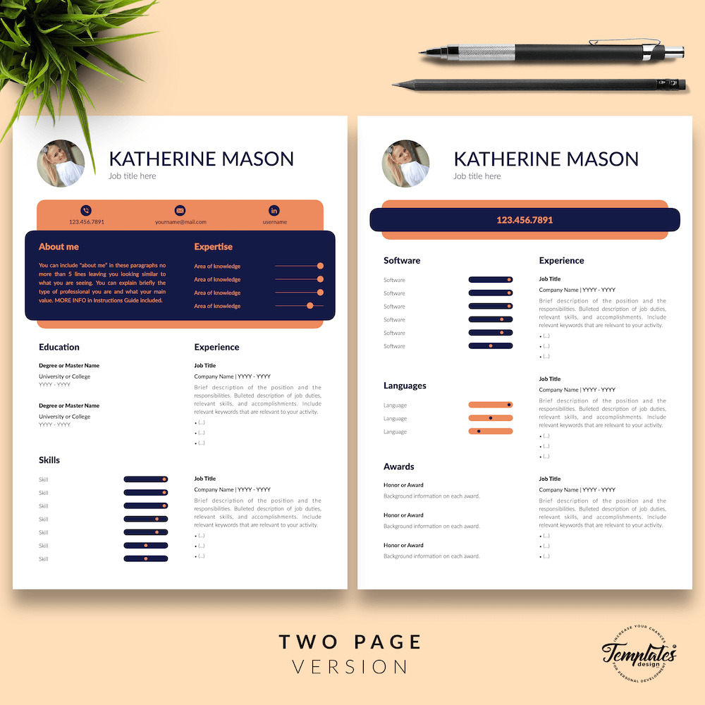 Original Resume Format - Katherine Mason 03 - Two Page Version - New version
