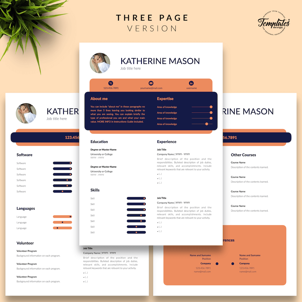 Original Resume Format - Katherine Mason 04 - Three Page Version - New version