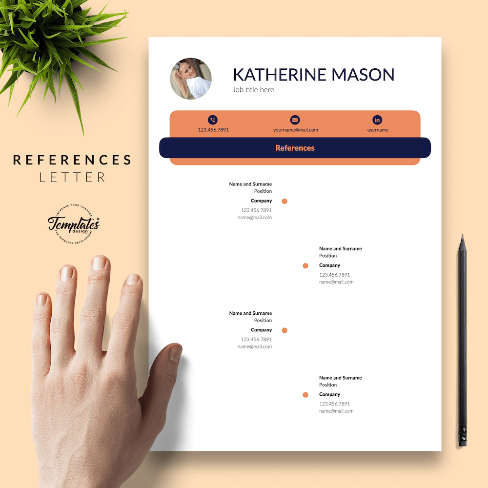Original Resume Format - Katherine Mason 06 - References - New version