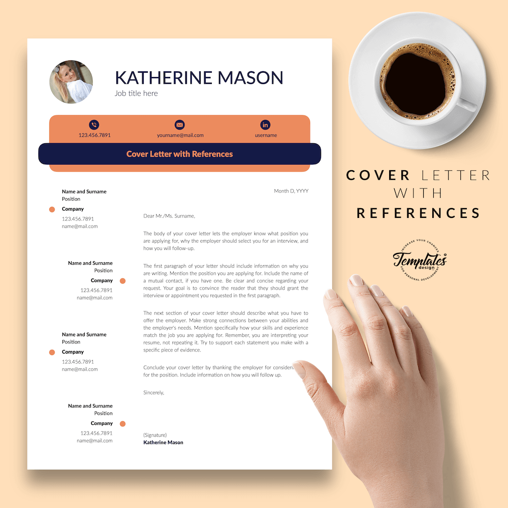 Original Resume Format - Katherine Mason 07 - Cover Letter with References - New version
