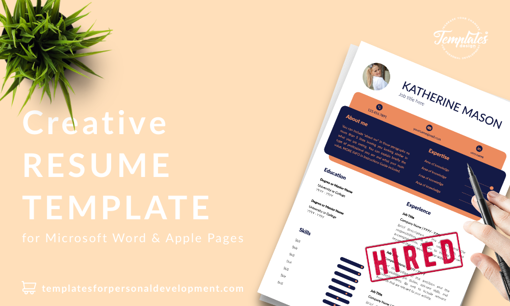 Resume CV Template : Katherine Mason 22 - Post - New version