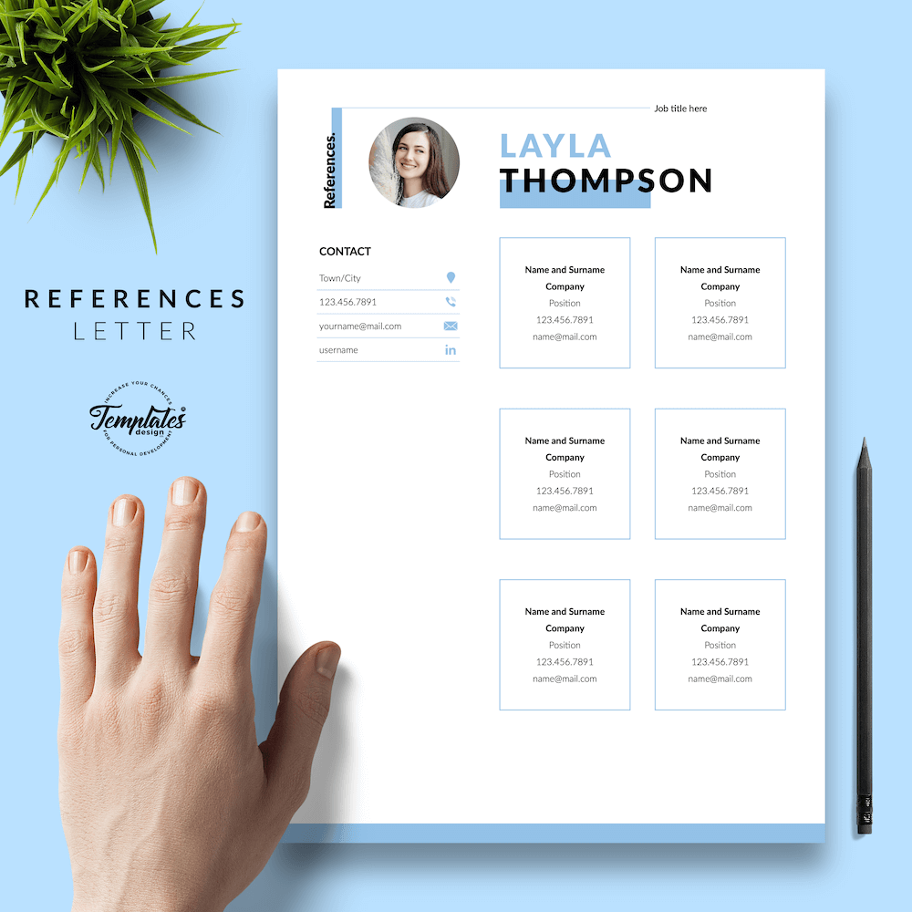 Simple Resume Template - Layla Thompson 06 - References - New version