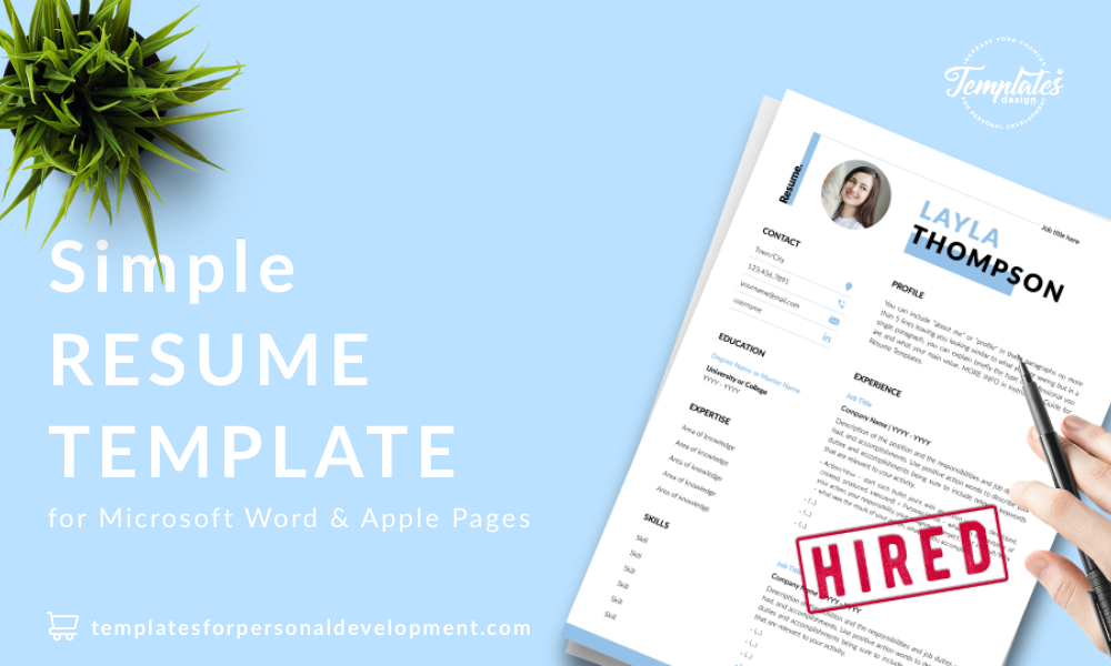 Resume CV Template : Layla Thompson 22 - Post - New version