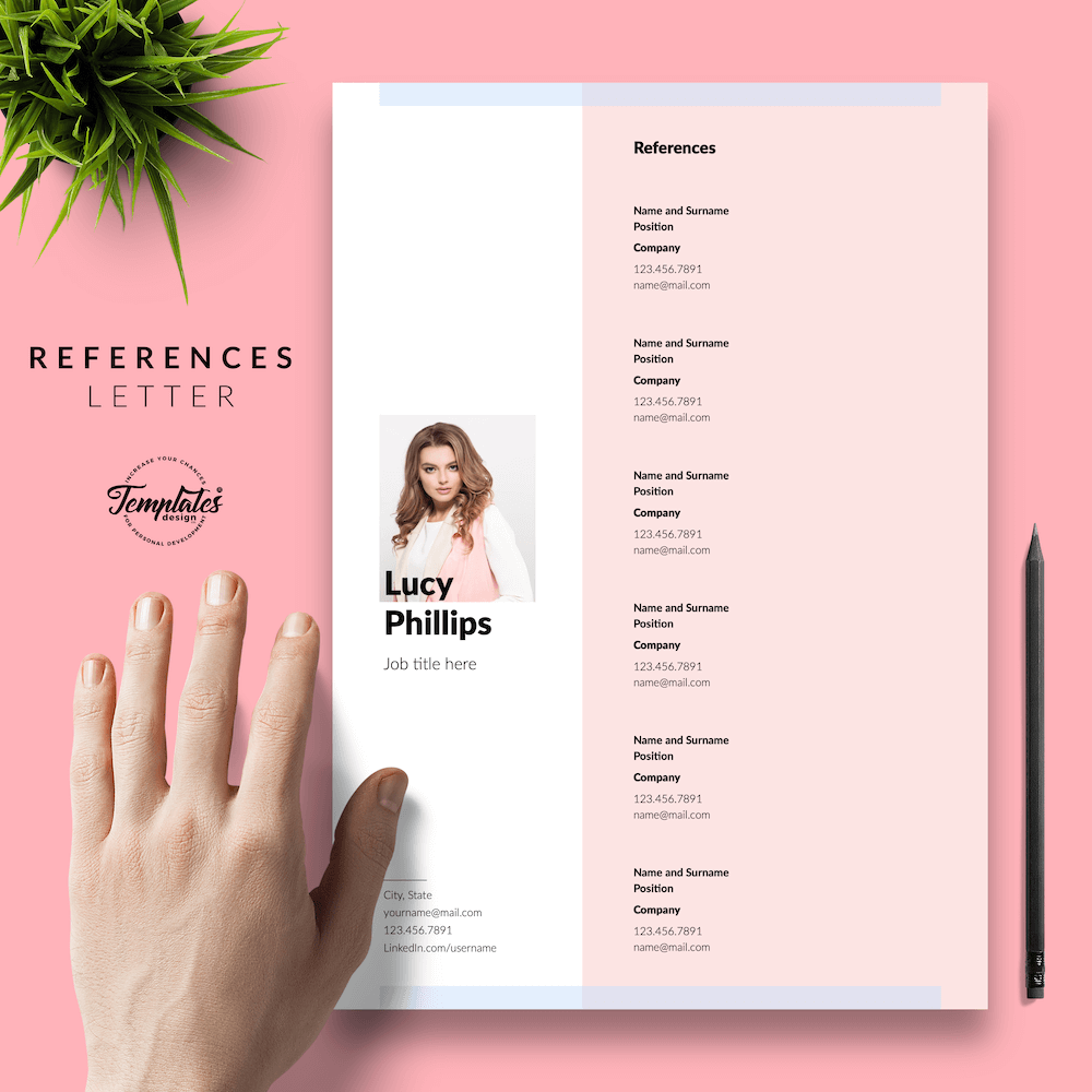 Modern Resume for Secretary - Lucy Phillips 06 - References - New version