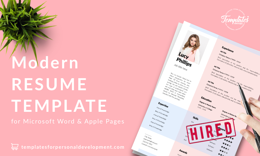 Resume CV Template : Lucy Phillips 22 - Post - New version