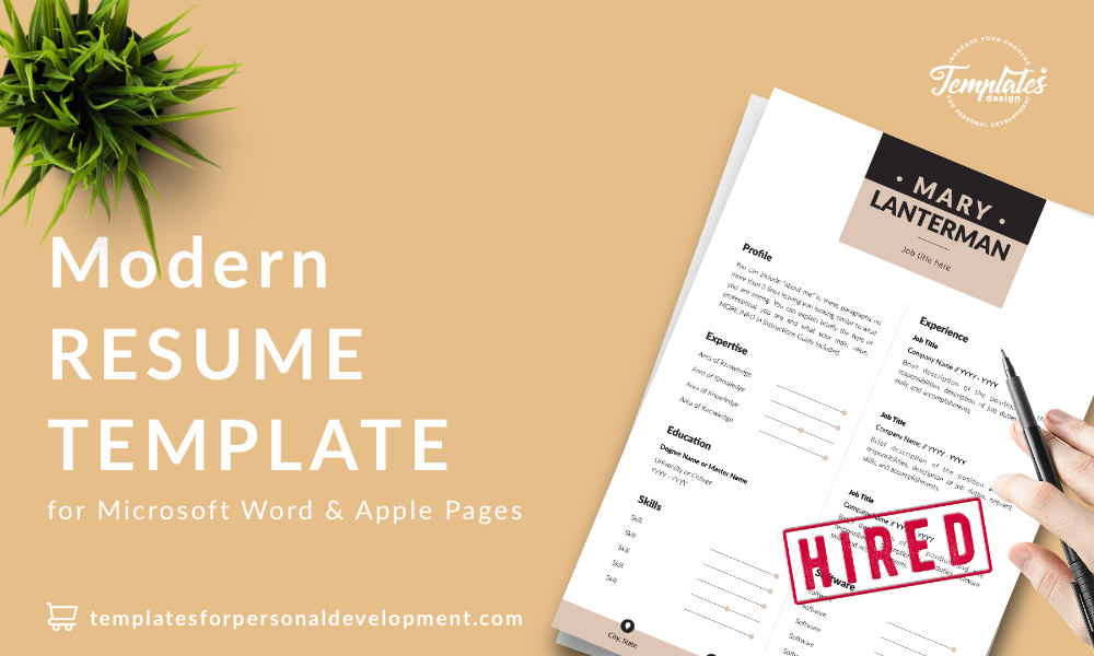 Resume CV Template : Mary Lanterman 22 - Post - New version