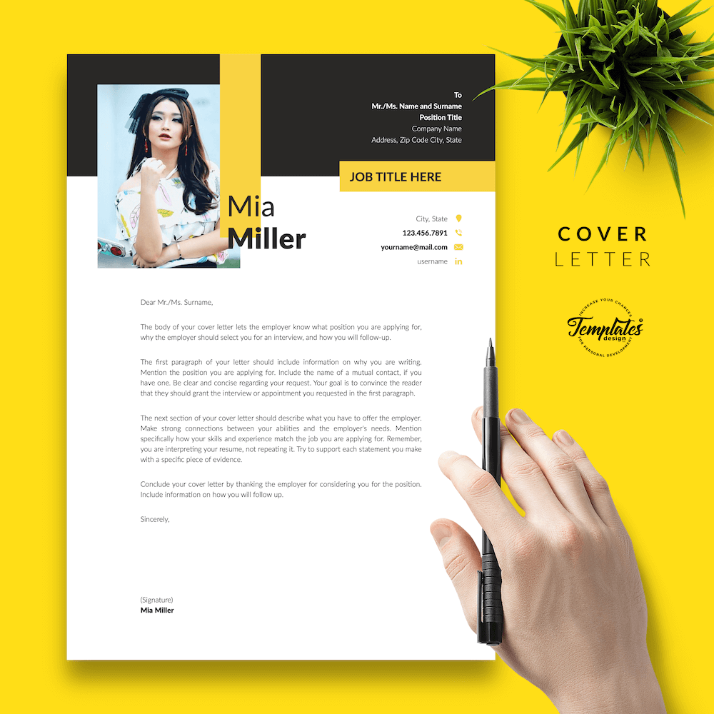CV for Work-From-Home Jobs - Mia Miller 05 - Cover Letter - New version