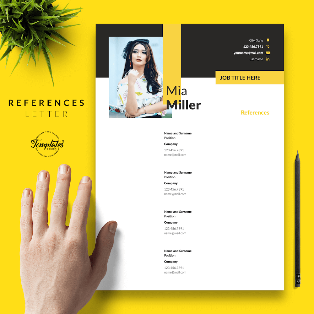 CV for Work-From-Home Jobs - Mia Miller 06 - References - New version