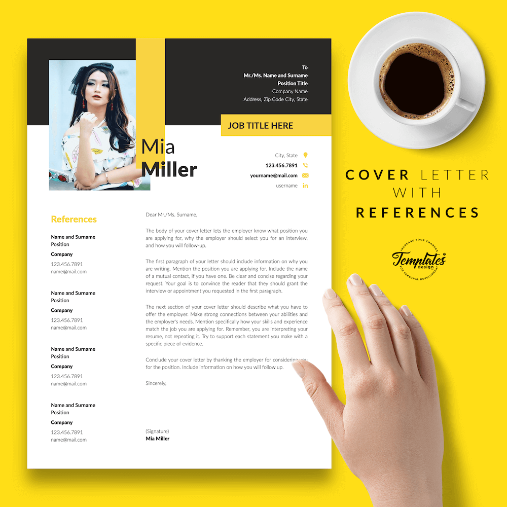 CV for Work-From-Home Jobs - Mia Miller 07 - Cover Letter with References - New version