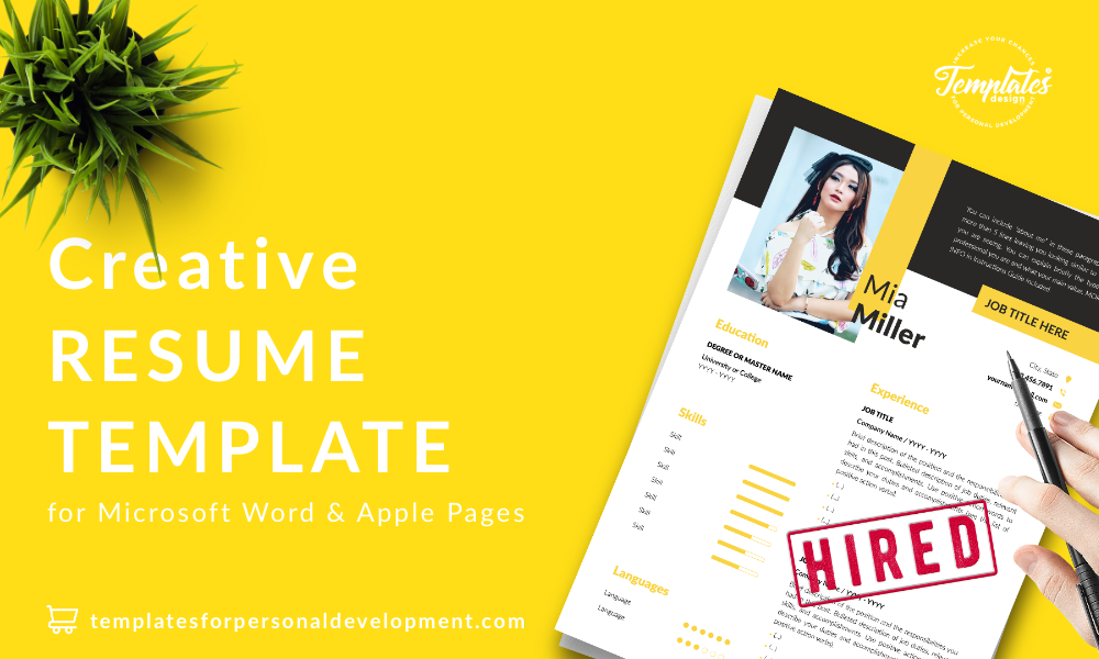 Resume CV Template : Mia Miller 22 - Post - New version