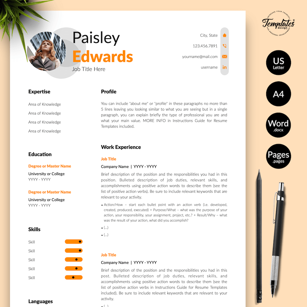 Marketing Resume Sample - Paisley Edwards 01 - Presentation - New version