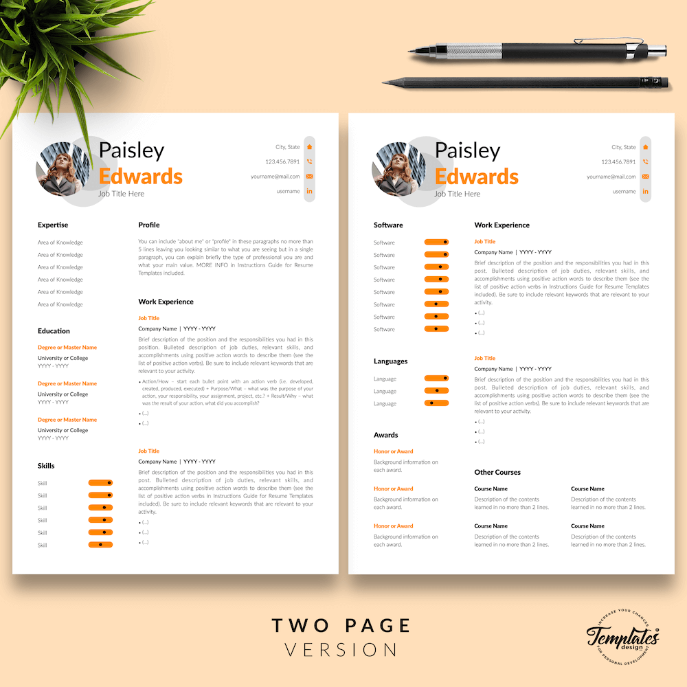 Marketing Resume Sample - Paisley Edwards 03 - Two Page Version - New version