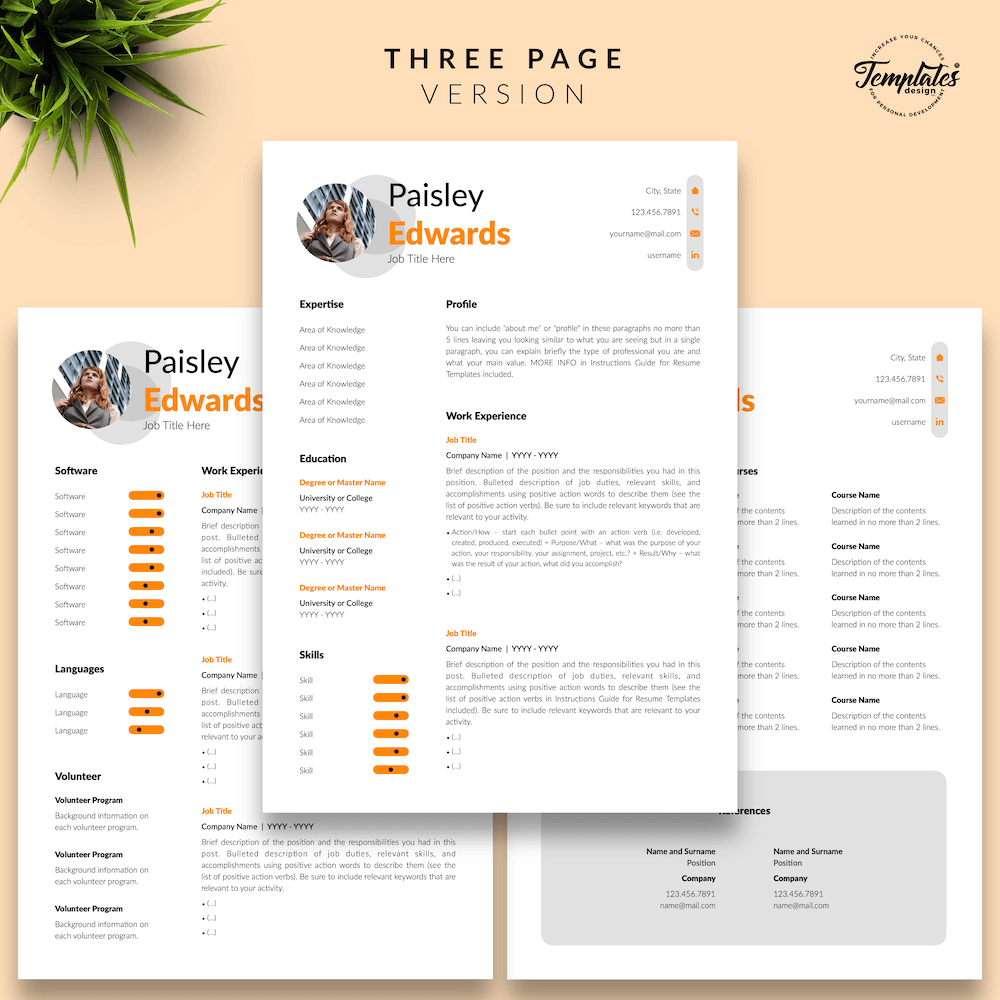 Marketing Resume Sample - Paisley Edwards 04 - Three Page Version - New version