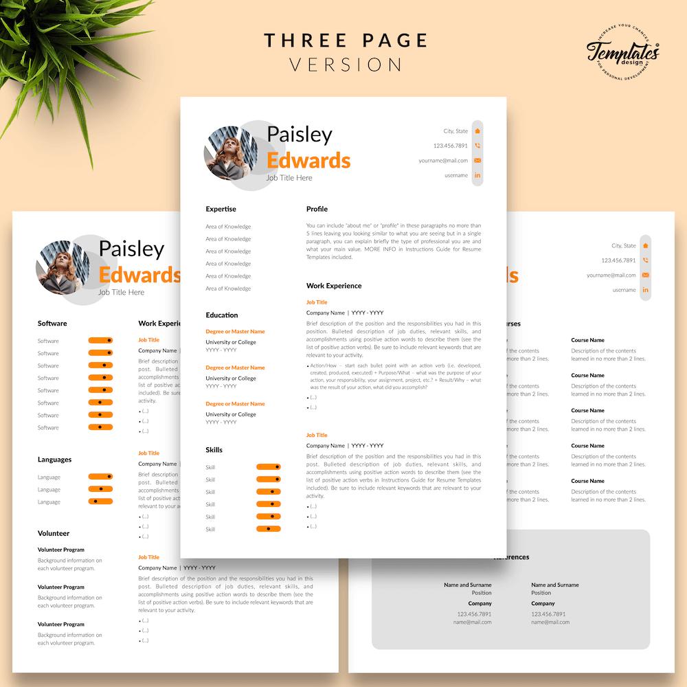 Marketing Resume Sample - Paisley Edwards 04 - Three Page Version - New version