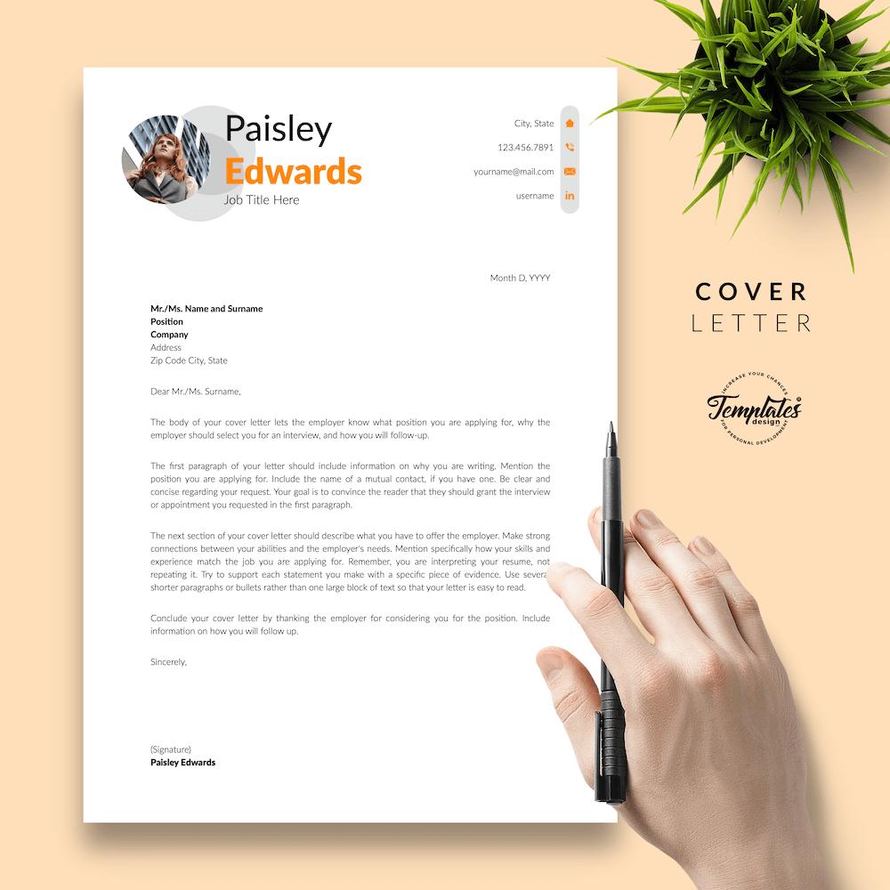 Marketing Resume Sample - Paisley Edwards 05 - Cover Letter - New version