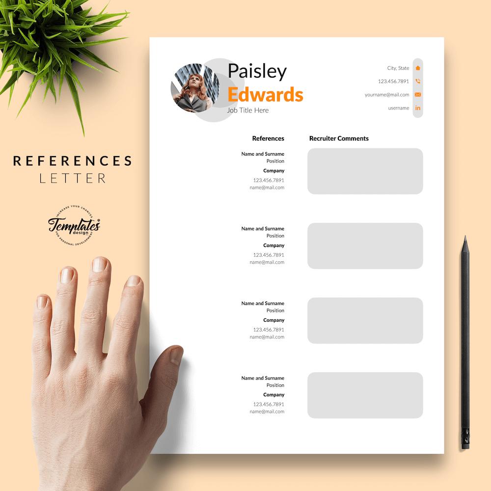 Marketing Resume Sample - Paisley Edwards 06 - References - New version