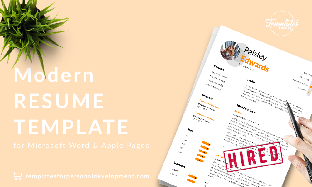 Resume CV Template : Paisley Edwards 22 - Post - New version