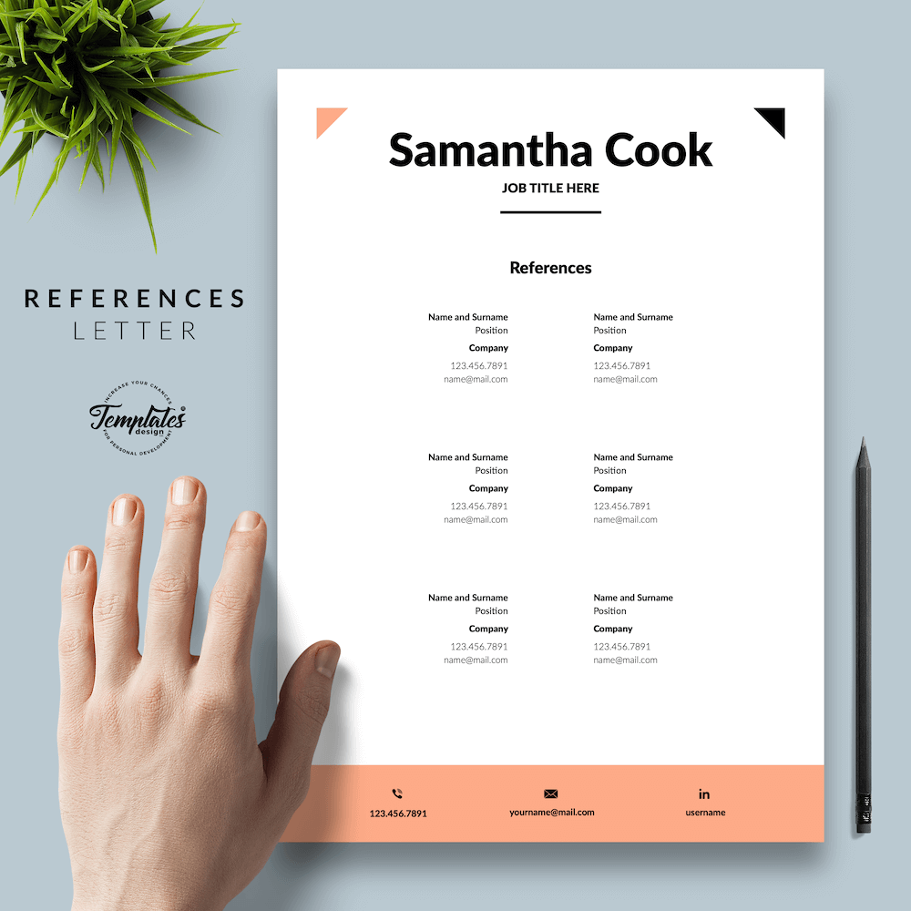 Secretary Resume Template - Samantha Cook 06 - References - New version
