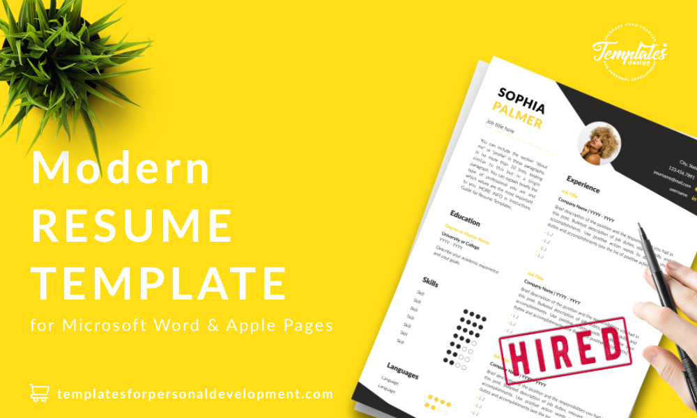 Resume CV Template : Sophia Palmer 22 - Post - New version