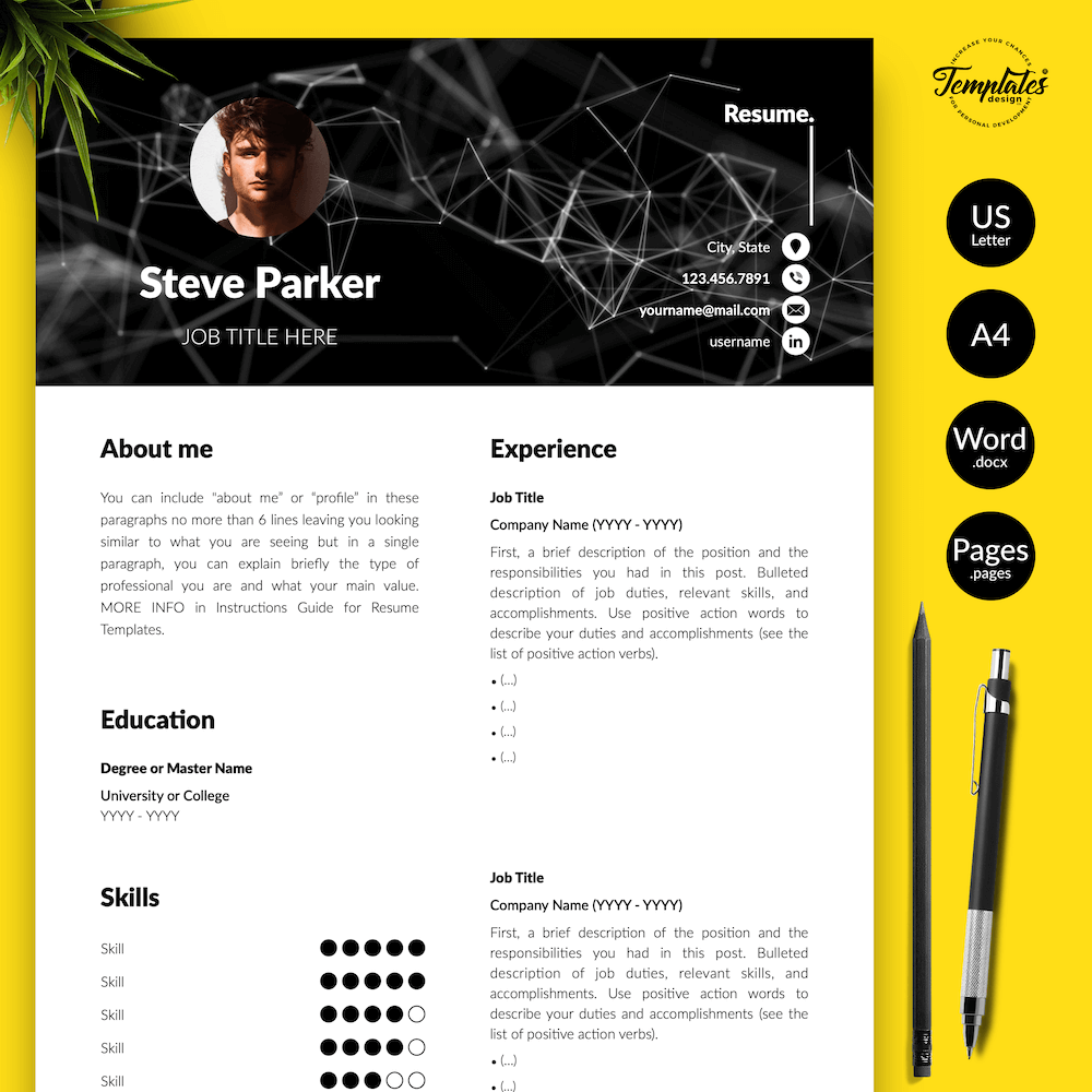 Resume CV for Entrepreneurs - Steve Parker 01 - Presentation - New version